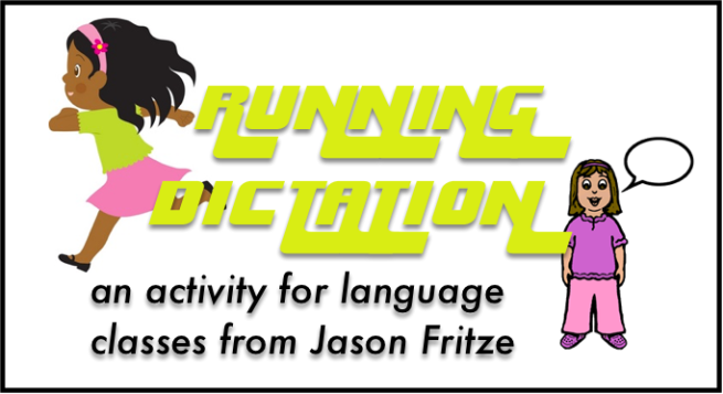 Running dictation activity for language classes shared by The Comprehensible Classroom